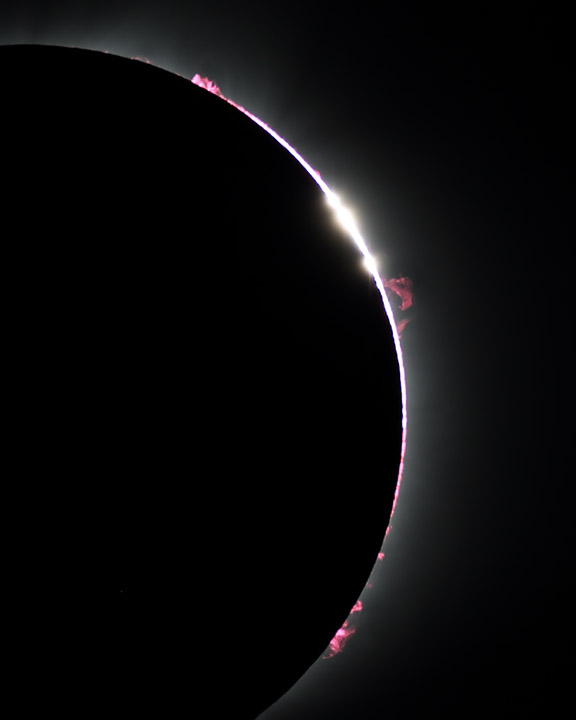 Baily's Beads and Prominences 2017-08-21